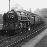 A Britannia on the Cambrian Coast Express in the last days of steam on GWR lines