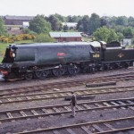 Longmoor was an early home for saved Bulleid pacific No 34023 Blackmore Vale