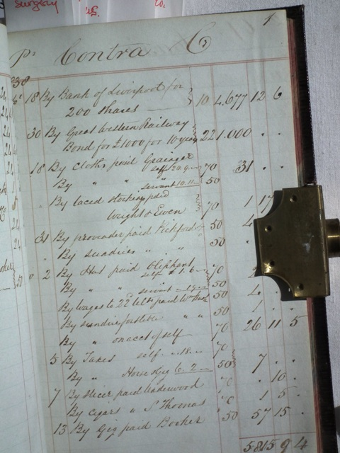 Who spent £1000 on GWR shares in 1838 and logged it here?