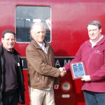 The support crew for D1015 Western Champion receive their 'Engine of the Year award last year