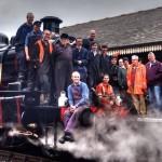 ESR Steam Department volunteers celebrate the return to steam of 46447 on 26 Oct 2014