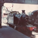 4555 sits in the head shunt at Ashburton in 1968. Let's bring her back there!